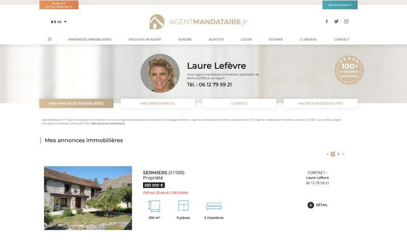 Agent-Mandataire.fr, annonces immobilières d'un agent mandataire