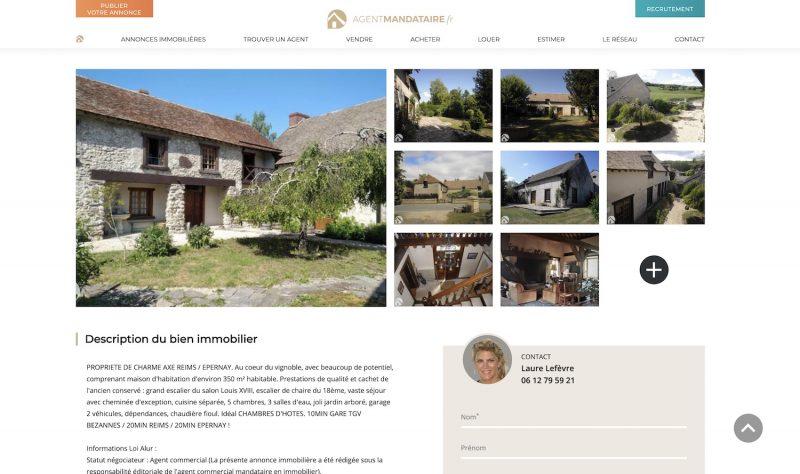 Agent-Mandataire.fr, photos d'une annonce immobilière en France