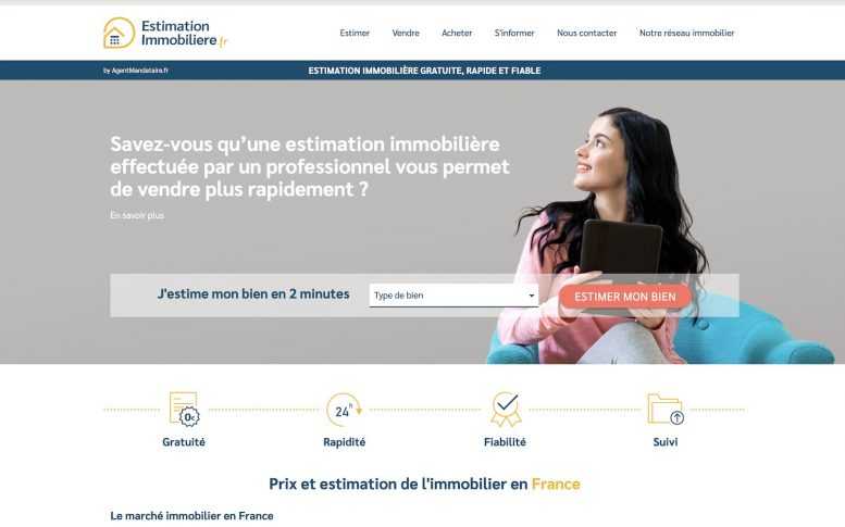 Estimation Immobiliere, site d'Agent-Mandataire