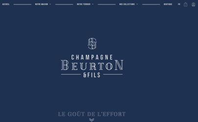 Site boutique Champagne Beurton & Fils réalisé par l'agence web GM-Créative.fr